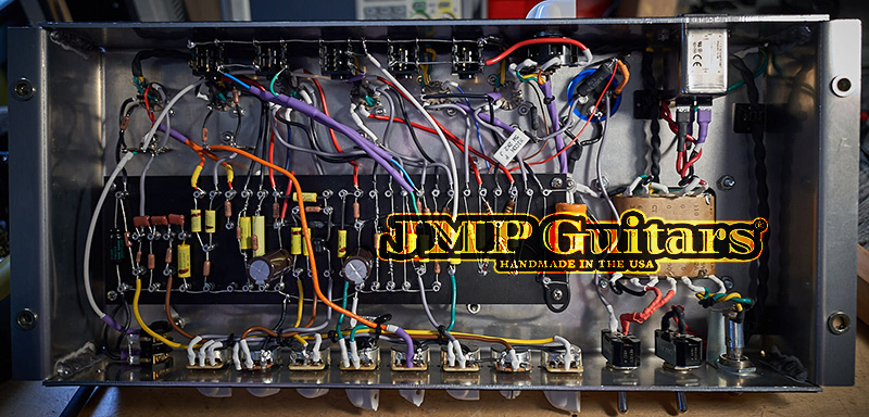 JMPGuitars Tremolo TMB Reverb Guitar Amp circuit inside the amp
